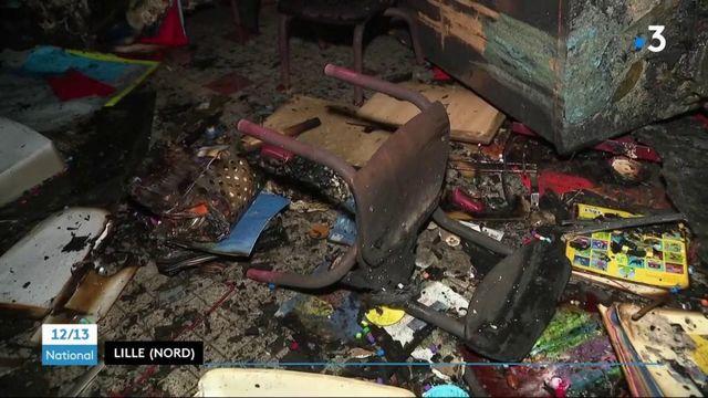 Lille : une école maternelle incendiée, des pompiers attaqués au mortier