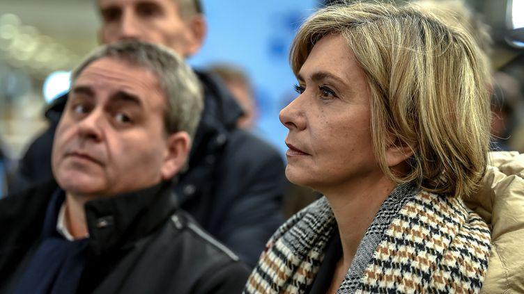 Xavier Bertrand et Valérie Pécresse, en février 2019. (PHILIPPE HUGUEN / AFP)