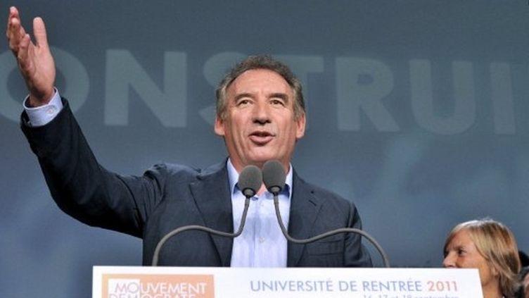18% des Français souhaitent un destin présidentiel à François Bayrou, selon le  baromètre Viavoice à paraître lundi dans Libération. (AFP - Boris Horvat)