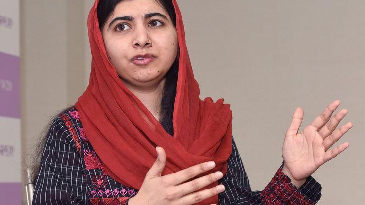 La prix Nobel de la paix 2014,Malala Yousafzai, lors d'une interview à Tokyo (Japon), le 24 mars 2019. (KANSHIRO SONODA / YOMIURI / AFP)