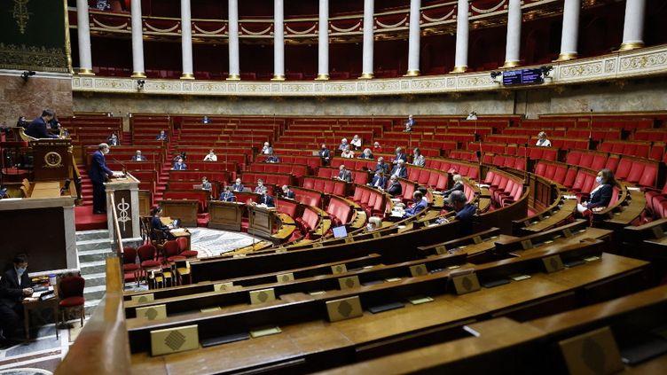 L'Assemblée nationale, le 17 décembre 2020, à Paris. (THOMAS COEX / AFP)