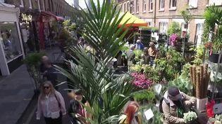 En activité depuis 150 ans, le marché aux fleurs de Colombia Road fait partie des plus anciens de Londres (Royaume-Uni). (CAPTURE ECRAN FRANCE 2)