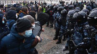 Manifestation à Moscou, en soutien à l'opposant Alexeï Navalny, le 31 janvier 2021. (EVGENY ODINOKOV / SPUTNIK)