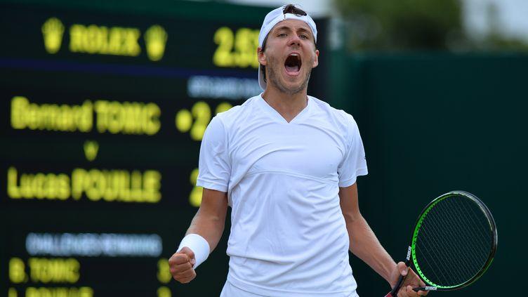 Pour la première fois de sa carrière, Lucas Pouille a été convoqué pour disputer la Coupe Davis. (GLYN KIRK / AFP)