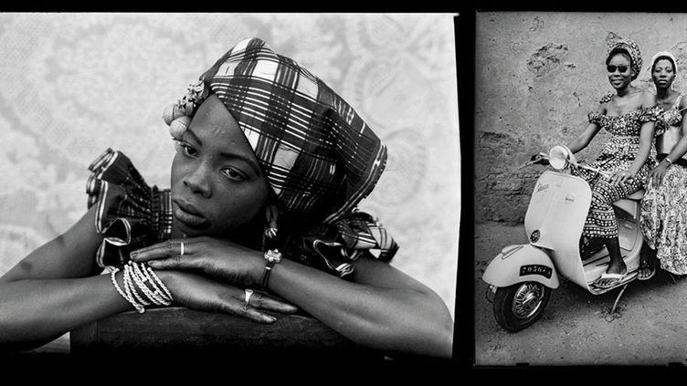 Seydou Keïta, Sans titre, 1949-1951, et Sans titre, 1953, tirages argentiques modernes réalisés en 1995 et en 1998 sous la supervision de Seydou Keïta et signés par lui, Genève, Contemporary African Art Collection  (Seydou Keïta / SKPEAC / photo courtesy CAAC – The Pigozzi Collection, Genève)