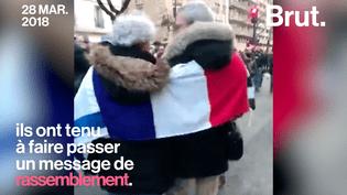 Hommage à Mireille Knoll : le message de rassemblement d'un couple franco-israélien (BRUT)