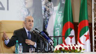 Le nouveau président algérienAbdelmadjid Tebboune à Alger, le 13 décembre 2019. (BILLAL BENSALEM / NURPHOTO / AFP)
