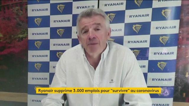 "Coronavirus : Ryanair supprime 3 000 emplois pour ""survivre"""