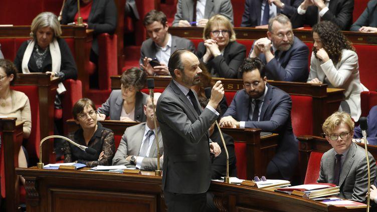 Le Premier ministre d'Edouard Philippe à l'Assemblée nationale, à Paris, le 4 décembre 2018. (FRANCOIS GUILLOT / AFP)