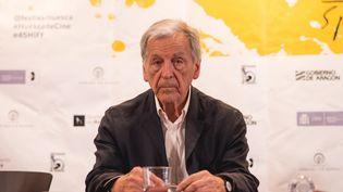 Le réalisateur Costa-Gavras à Huesca, en Espagne, le 15 juin 2017. (ADELA  MAC  SWINEY / NOTIMEX / AFP)
