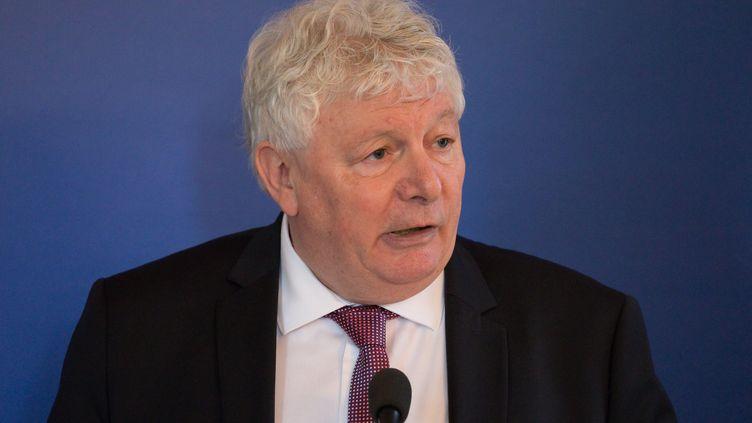Alain Lassus, président PS du conseil départemental de la Nièvre, le 15 février 2019. (JC TARDIVON / MAXPPP)