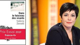 Valérie Zenatti, invitée de la Grande Librairie sur France 5.  (Editions de l'Olivier / BALTEL/SIPA)