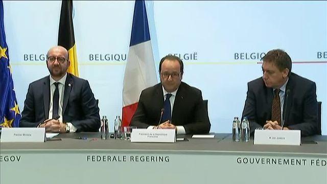 """Hollande appelle la Belgique à extrader """"le plus rapidement possible"""" Abdeslam vers la France"""