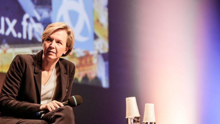 Virginie Calmels, tête de liste des Républicains aux régionales en Aquitaine-Limousin-Poitou-Charentes, à Bordeaux (Gironde), le 18 septembre 2015. (MAXPPP)