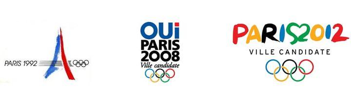 Les précédents logos des candidatures olympiques parisiennes