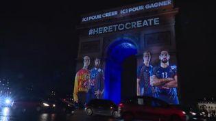 Capture d'écran de l'Arc de Triomphe illuminé le 10 janvier 2017 (FRANCE TELEVISIONS)