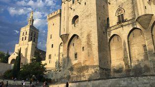Le Palais des papes accueille traditionnellement chaque été le festival de théâtre d'Avignon (Vaucluse). (STÉPHANE MILHOMME / RADIOFRANCE)