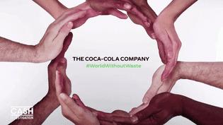 """En janvier 2018, Coca-Cola affirmait dans un communiqué vouloir offrir un """"monde sans déchets"""". (CASH INVESTIGATION / FRANCE 2)"""