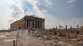 Athènes, l'Acropole (7 juillet 2020) (NICOLAS ECONOMOU / NURPHOTO VIA AFP)