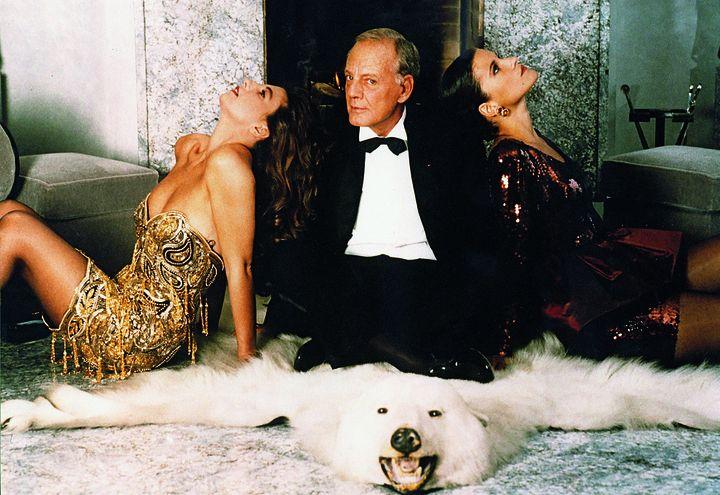 Loris Azzaro avec ses deux filles Catherine et Béatrice Azzaro  (Famille Azzaro)