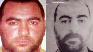 Les deux seules photos authentifiées d'Abou Bakr Al-Baghdadi, détenues par les services de sécurité américains et irakiens. (US DEPARTMENT OF STATE'S BUREAU OF DIPLOMATIC SECURITY AND IRAQI MINISTRY OF INTERIOR / AFP)