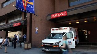 L'entrée de l'hôpital Saint-Vincent à New York (7-4-2010) (AFP - Spencer Platt - Getty Images)