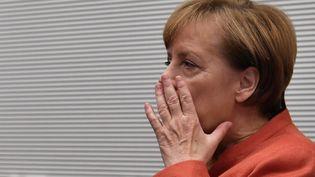 La chancelière allemande Angela Merkel, le 20 novembre 2017. (JOHN MACDOUGALL / AFP)
