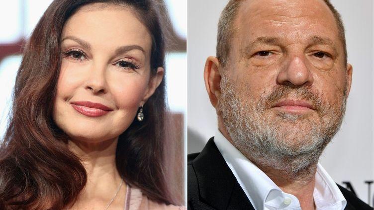 L'actriceAshley Judd et le producteur Harvey Weinstein. (FREDERICK M. BROWN / AFP)