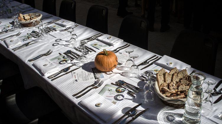 Un banquet bio, dans le cadre d'une fête de la gastornomie. (MAXPPP)