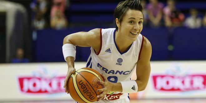 La basketteuse tricolore Céline Dumerc
