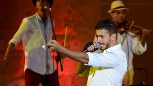 Saad Lamjarred à Carthage (Tunisie),le 30 juillet 2016. (FETHI BELAID / AFP)