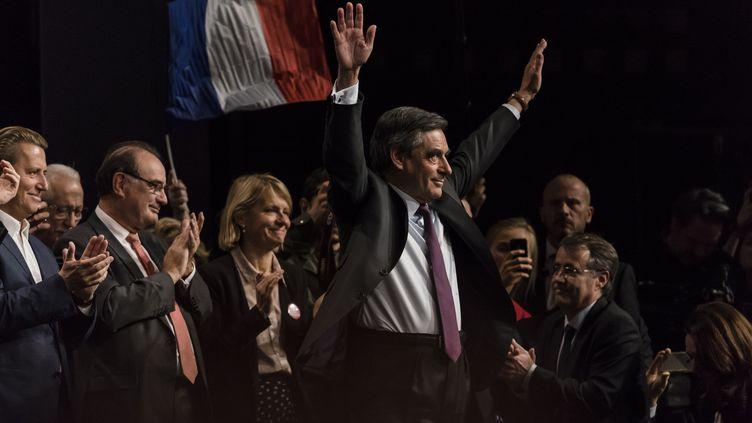 François Fillon,en meeting vendredi 18 novembre, à Paris; (CITIZENSIDE/SAMUEL BOIVIN / CITIZENSIDE)