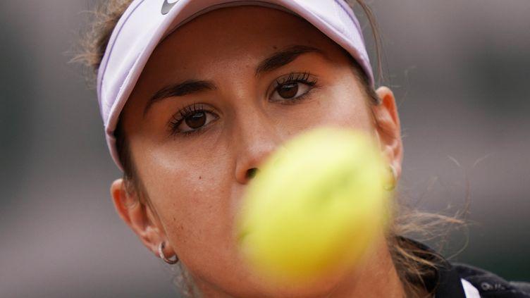 La joueuse de tennisJessika Ponchet au tournoi de Roland-Garros, porte d'Auteuil à Paris, le 26 mai 2019. (KENZO TRIBOUILLARD / AFP)