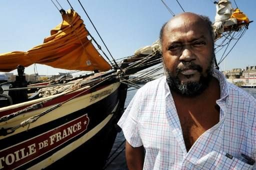 L'écrivain haïtien, Lyonel Trouillot, à Saint-Malo en 2009  (FRED TANNEAU / AFP)