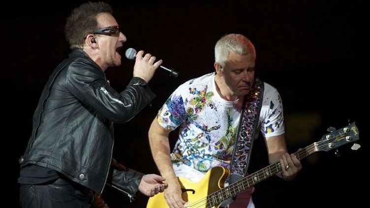 """U2 à Chicago durant le """"360° Tour"""", en juillet 2011.  (RG4/WENN.COM/SIPA)"""