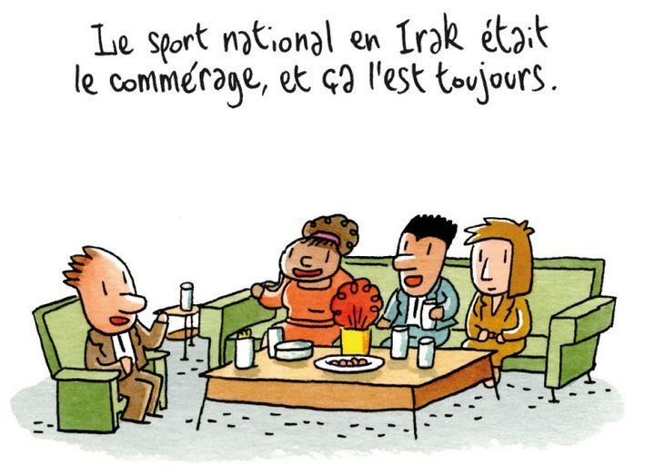 """""""Coquelicots d'Irak"""", détail page 39  (Brigitte Findakly - Lewis Trondheim)"""