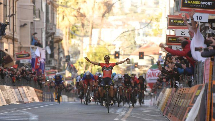 Vincenzo Nibali, vainqueur de Milan - San Remo 2018 (MARCO BERTORELLO / AFP)