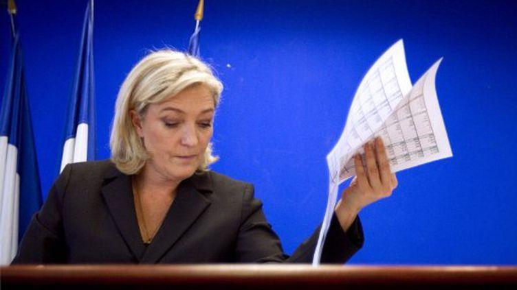 Marine Le Pen présente le chiffrage de son programme (JOEL SAGET / AFP)