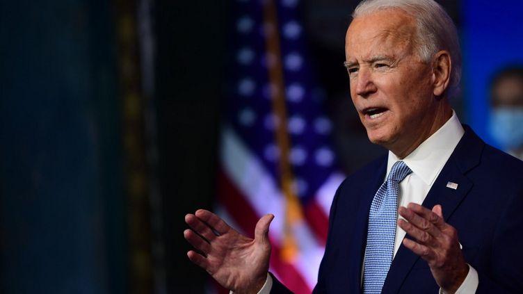 Le président élu américain Joe Biden à Wilmington(Delaware), aux Etats-Unis, le 24 novembre 2020. (MARK MAKELA / GETTY IMAGES NORTH AMERICA / AFP)