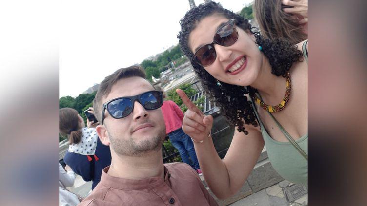 Rahim et Halima à Paris. (FRANCEINFO / RADIOFRANCE)