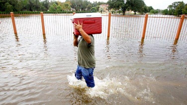 Le 4 septembre 2011, au sud-est des USA, après le passage de l'ouragan Irène. (SEAN GARDNER/Getty Images/AFP)
