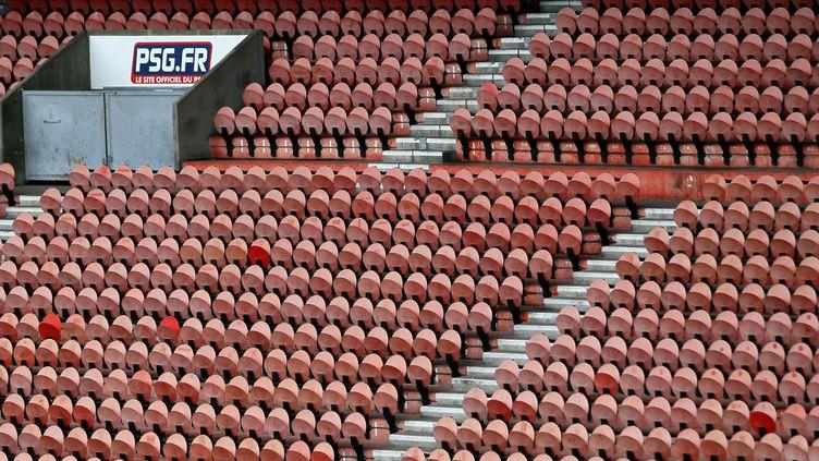 Les gradins vides du Parc des Princes, le stade du PSG,à Paris. (THOMAS COEX / AFP)