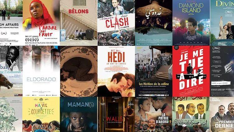 Une partie des films finalistes de l'édition 2017 des Trophées francophones du cinéma.