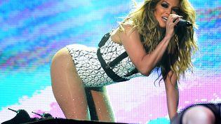 Jennifer Lopez lors de son concert à Rabat, la capitale marocaine, le 29 mai 2015. (FADEL SENNA / AFP)
