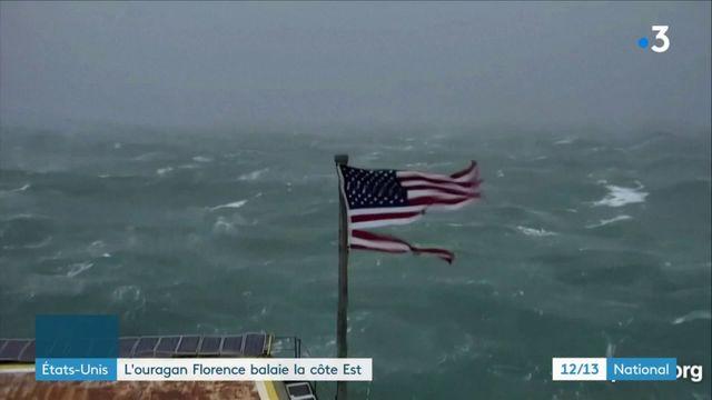 États unis : l'ouragan Florence balaie la côte Est