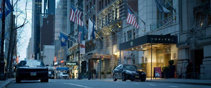 """Une image du Sofitel à New York, dans le documentaire """"Chambre 2806 : l'affaire DSK"""". (Netflix / Capa)"""