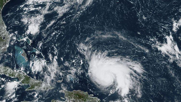 L'ouragan Dorian passe au nord-ouest de Porto Rico, le 29 août 2019. (HO / NOAA / RAMMB / AFP)