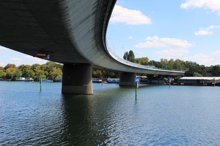 Le viaduc de Saint-Cloud (Hauts-de-Seine), le 28 juillet 2019. (ROBIN PRUDENT / FRANCEINFO)