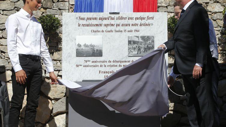 François Hollandeau mémorial du mont Faron, lors du70e anniversaire du débarquement de Provence, près de Toulon (Var), le 15 août 2014. (MICHEL EULER / AFP )