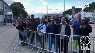 Des fans de l'OM à Lyon (France 2)